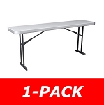 Folding Seminar Tables Lifetime Tables 6 ft. 80176 White Granite Table
