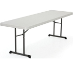 Lifetime Professional Folding Tables 280250 Almond 8' Commercial Table