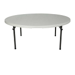 Lifetime Round Folding Tables Free Shipping 2970 (now 880301) 60-in White Top