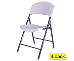 Lifetime Chairs 42810 White Granite Light Duty Commercial Chair 4 Pack