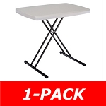 Lifetime Personal Table 28240 30 In Almond Top Adjustable Height Table