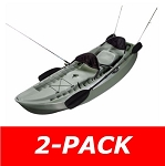 2-Pack Lifetime Sit on Top Kayaks 90121 10-ft Sport Fishing Kayak Olive Green