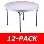 Lifetime Round Tables 2960 White Granite 46 in. Top - 12 Pack
