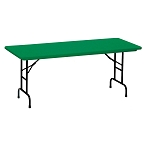 Correll Colored Adjustable-Height Folding Tables RA3060-C 30 x 60 Top