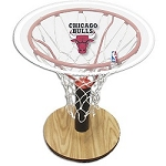 NBA Basketball Acrylic Sports Table with Chicago Bulls Logo
