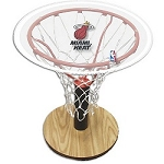 NBA Basketball Acrylic Sports Table with Miami Heat Logo