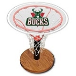 NBA Basketball Acrylic Sports Table with Milwaukee Bucks Logo