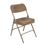 2-PACK National Public Seating Extra Padded Vinyl Folding Chairs