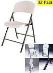 SO 32 Pack Lifetime 4409 Accent Almond Folding Chair