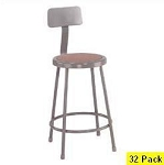 32 Lab Stools With Backrest National Public Seating NPS 6224b 24