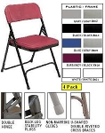 National Public Seating 800 Series Plastic Folding Chair 4 Pack