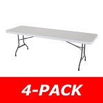 Lifetime 8-ft 42980 Rectangular Tables 4 Pack White Granite Color Top