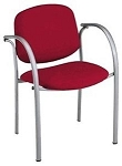 Ofm 432 Red Guest Conference Chair Fabric Upholstered Closeout