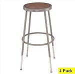 4 National Public Seating NPS 6224h Heavy-Duty Adjustable Lab Stools