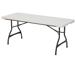 Lifetime Folding Tables - 480272 Nesting Table 6-Foot Plastic - 4 Pack