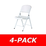 80359 Lifetime 4-Pack White Wedding Folding Chair