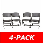 480426 Padded Commercial Folding Chair- 4 Pack in Putty Color