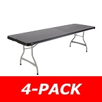 Lifetime 8 Ft Commercial Stacking Folding Table 480462 4-Pack