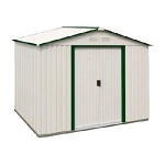 Duramax Del Mar Metal Storage Shed 50214 10x8 Green Trim