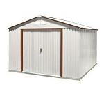 10x8 50231 Del Mar Metal Shed with Brown Trim
