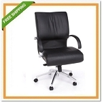 OFM 511-L Sharp Series Executive Mid-Back Leather Chair