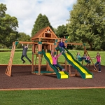 Backyard Discovery Crestwood 54383com Wooden Swing Set Playground