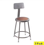 5 National Public Seating NPS 6218hb Heavy-Duty Lab Stools Backrest