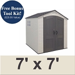 Lifetime Storage Sheds - 60042 7x7 ft. Shed with 2 Windows