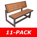 Lifetime Convertible Table - 60054 Picnic Table and Bench 11 Pack