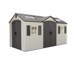 Lifetime Garden Sheds 60079 15 x 8 ft Dual Entry Plastic Storage Shed