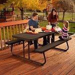 60112 Lifetime 6-Foot Picnic Table (brown)