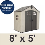 Lifetime Storage Shed 60113 8x5 With Window and Skylight