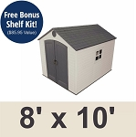 Lifetime Storage Shed 60115 8x10 With 1 Window