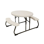 Lifetime Children's Oval Picnic Table (Almond)