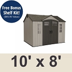Lifetime 60151 10' x 8' Steel Reinforced Shed