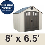 Lifetime 8 X 6.5 Ft Outdoor Storage Shed 60147A (Previously 60179)