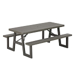 Lifetime Folding Picnic Tables 60233 A-Frame 6-Foot Top Brown