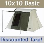 Kodiak Canvas Tent 6051 Six-Person 10 x 10 Ft. Tent