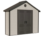 Lifetime Shed 6414 11 x 3.5 ft Resin Plastic Storage Shed