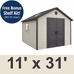 Lifetime 11x31 Storage Shed