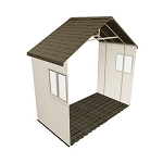 Lifetime Storage Building 6426 Outdoor Shed Extension Kit + 2 Windows