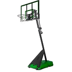 Spalding Hercules Green Portable Basketball 75750 50 Acrylic Backboard