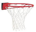 Spalding Basketball Accessories 7811s Red Standard Rim White Net