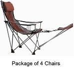 4-Pack TravelChair 789frv Collapsible Camp Chair With A Footrest