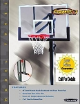 Lifetime In-Ground Basketball System 79943 48-inch Backboard Goal