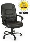 Big and Tall Leather Office Chair - 800-L Adjustable Black Chair
