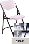 SO 8000 Lifetime Accent Almond Folding Chair