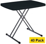 Lifetime Personal Tables - 80056 Black Top 40 Pack Folding Tables