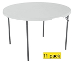 SO 11 Lifetime Tables 80064 White Granite 48-in Fold-in-Half Tables