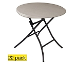 22 Lifetime Tables 880230 Almond 33-in Round Personal Folding Table